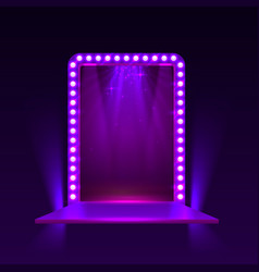 show light podium purple background vector image vector image
