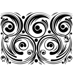 Swirls and Dots vector image vector image