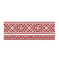 traditional embroidery of vector image