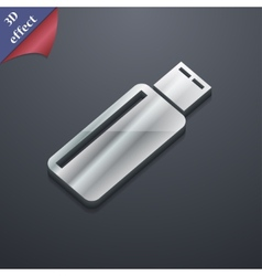 Usb flash drive icon symbol 3d style trendy modern vector