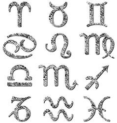 Zodiac signs vector image vector image