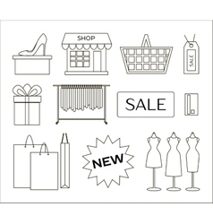 Set of shopping icons vector image
