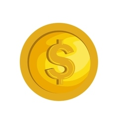 Money coins isolated icon vector