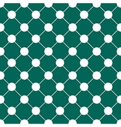 White polka dot chess board grid teal green vector