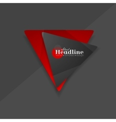 Abstract red black triangle shapes logo vector