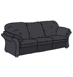 Black big sofa vector