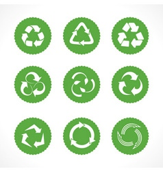 Set of recycle symbols and icons vector