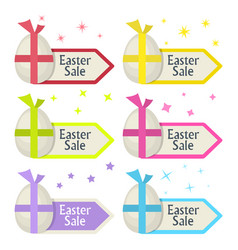 Easter sale signegg and arrow pointer vector