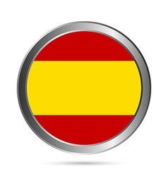 Spain flag button vector