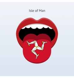 Isle of man language abstract human tongue vector