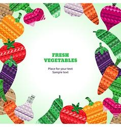 Vegetables fresh frame vector