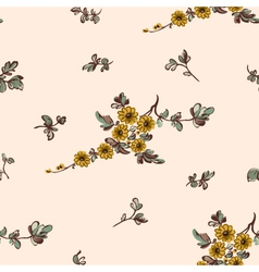seampless pattern yellow flower vector image