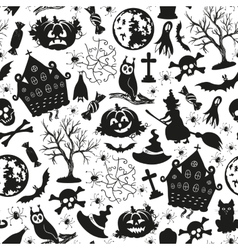 Seamless drawing icons for halloween vector