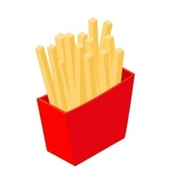 French fries isometric 3d icon vector