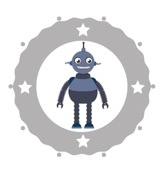 Funny robot cartoon vector