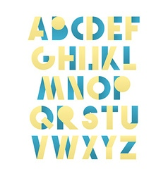 Retro font in green and blue beige alphabet vector