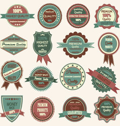 Vintage badge label frame premium badge logo vector