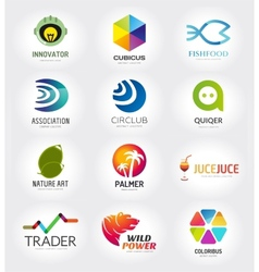 Abstract logo template set for branding and vector image vector image