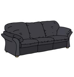 Black big sofa vector