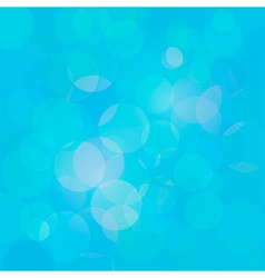 Blue abstract circle lights bokeh background vector image