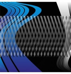 Blue abstract grid background vector