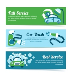 Car wash banners vector image vector image