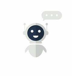 chat bot icon with speech bubble virtual vector image