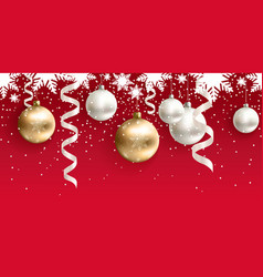 christmas decoration for site horizontal seamless vector image vector image