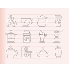 coffee industry signs vector image