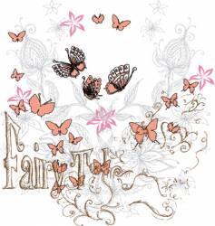 floral ethnic design vector image