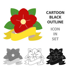 flower tattoo emblem icon cartoon single tattoo vector image vector image