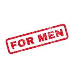 For men text rubber stamp vector