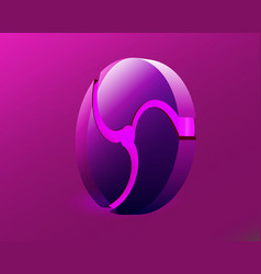 glowing purple neon on a purple background fidget vector image
