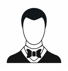 Groom icon simple style vector