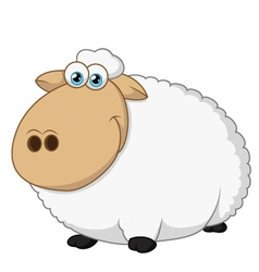 Happy sheep sitting vector