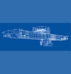 overhead crane sketch vector image vector image