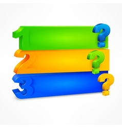 Question mark template color vector image vector image
