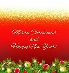 Red Christmas Card With Text vector image vector image