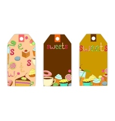 tag sweets coffee vector image vector image