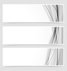 Three halftone grey line swoosh header vector