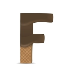 Wafer F letter vector image