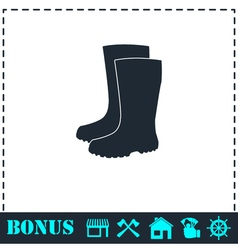 Waterproof shoes icon flat vector image vector image