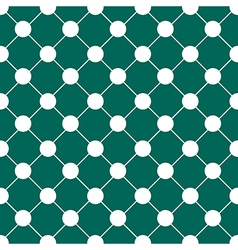 White polka dot chess board grid teal green vector