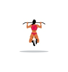 Workout sign Passion woman shakes her muscles on vector image