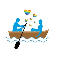 Gays in boat lovers of sailing rendezvous blue men vector