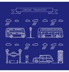 Public transport london vector