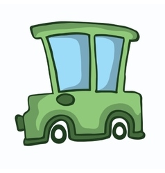 Green car design for kids vector