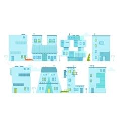 Set architecture building symbol Letter-house vector image