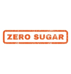 Zero sugar rubber stamp vector