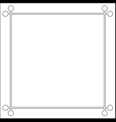 mid century 50s frame photo border vector image